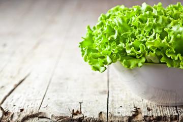 lettuce salad in a bowl