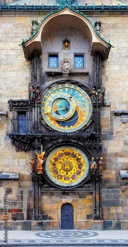 Aluminium Praag Prague Astronomical Clock (Orloj) in the Old Town of Prague