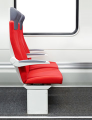 Passenger chairs in a modern train
