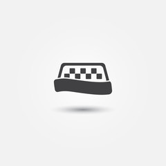Taxi vector simple icon - abstract symbol