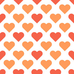 Love Hearts vector simple seamless pattern