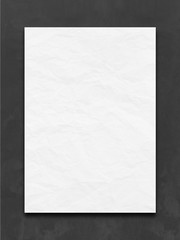 black chalkboard and blank crumpled list
