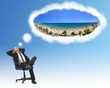 Businessman holidays beach concept