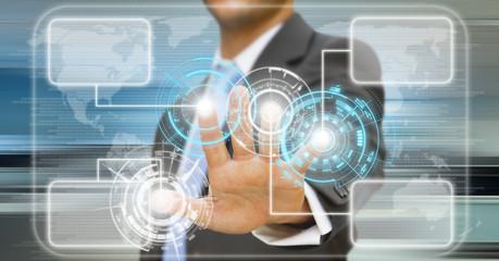 Businessman techconcept