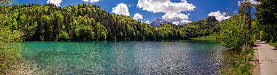Panorama vom Alatsee bei Füssen
