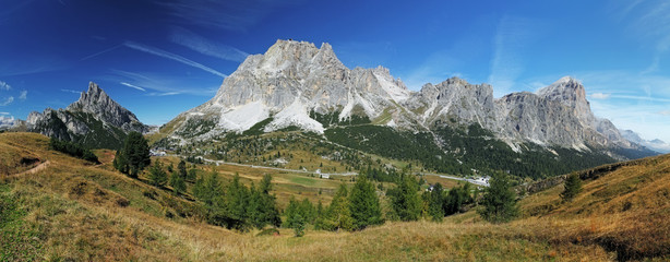 Mountain panorama in Dolomites
