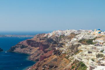 Oia, traditional greek village and Aegan sea, Greece