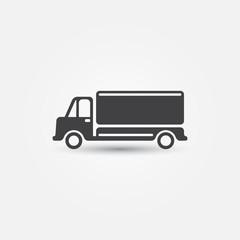 Vector car truck icon - simple transportation symbol