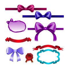 Set for design bows, ribbons