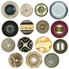 various kind of sewing buttons collection