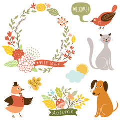 holiday graphic elements, vector collection