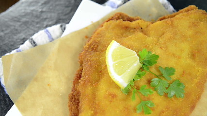 Portion of Fried Plaice (not loopable full HD video)