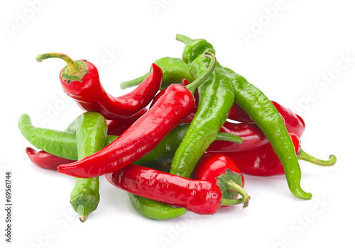 Red and green chili pepper - 69561744