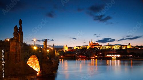Staande foto Praag Old town of Prague and Charles bridge.