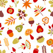 Autumn Seamless Pattern Retro