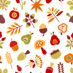 Autumn Seamless Pattern Retro