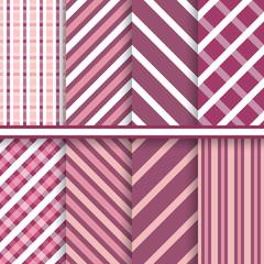 Dark elegant stripes vector seamless patterns set
