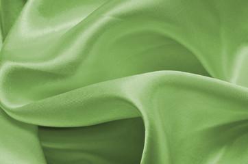 Texture green satin, silk background