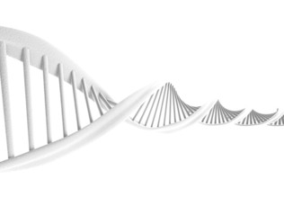 DNA spiral isolated on white background