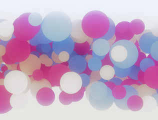 Multi color 3d circles