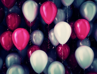 Celebration background balloons