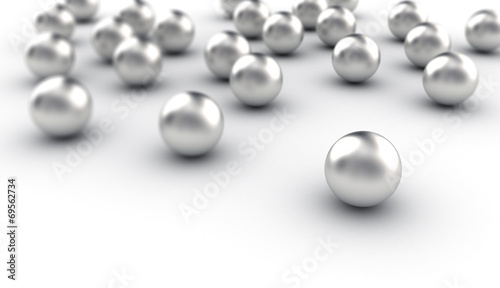 Collection of metal spheres
