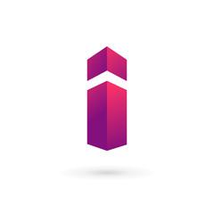 Letter I logo icon design template elements.