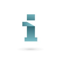 Letter I ribbon logo icon design template elements.