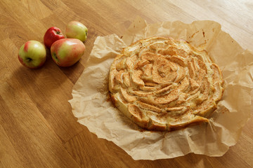 Newly baked apple pie