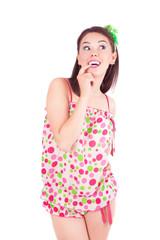 Lovely girl in pajamas