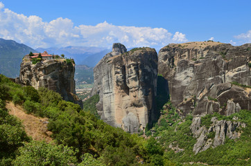 Meteora Monasteries on the rocks. Greece