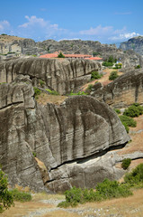 Meteora Monasteries on the rocks. Greece
