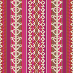 Textile pattern in ethnic style