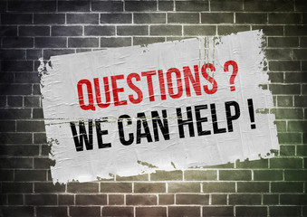 Questions? We can help! - poster concept