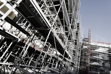 scaffolding constructions, super wide view