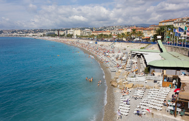 Nice, France, and its Beach