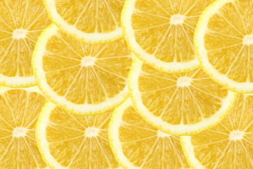 Fresh lemon citrus as background.