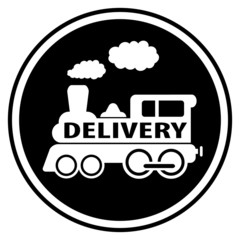 railway delivery symbol with train
