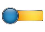 Button Vorlage - blau gelb