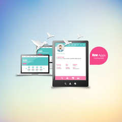 Responsive design for web- computer screen, smartphone, tablet