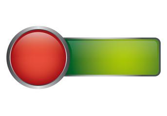 Button Vorlage - rot grün