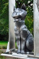 Monument to Zelenograd cats. Zelenogradsk, Kaliningrad oblast, R