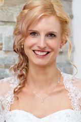portrait of beautiful smiling bride