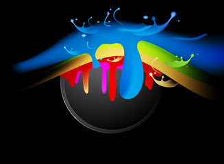 Colorful splash vector abstract background