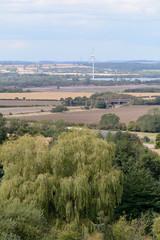 Landscape with wind turbine