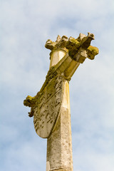 Memorial monument cross and shield