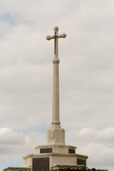War memorial monument cross