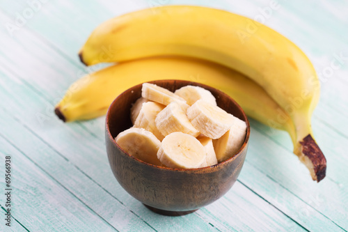 canvas print picture Sliced banana