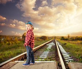 cute boy at railways to horizon