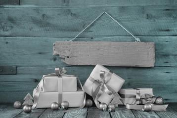 Weihnachten: Werbung für Weihnachtsgeschenke - Gutschein